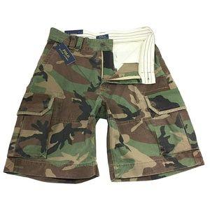 NEW Polo Ralph Lauren Mens Cargo Camo Shorts